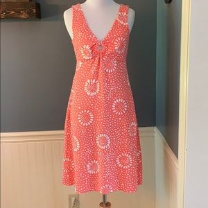 Tommy Bahama Coral Floral Cotton Knit Dress XS